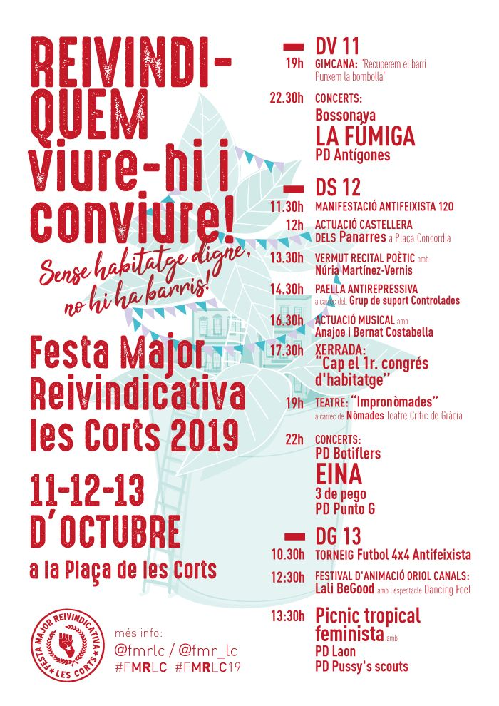 Concert de Ana Joe, Bernat Costabella  - Festa Major Reivindicativa de Les Corts 2019