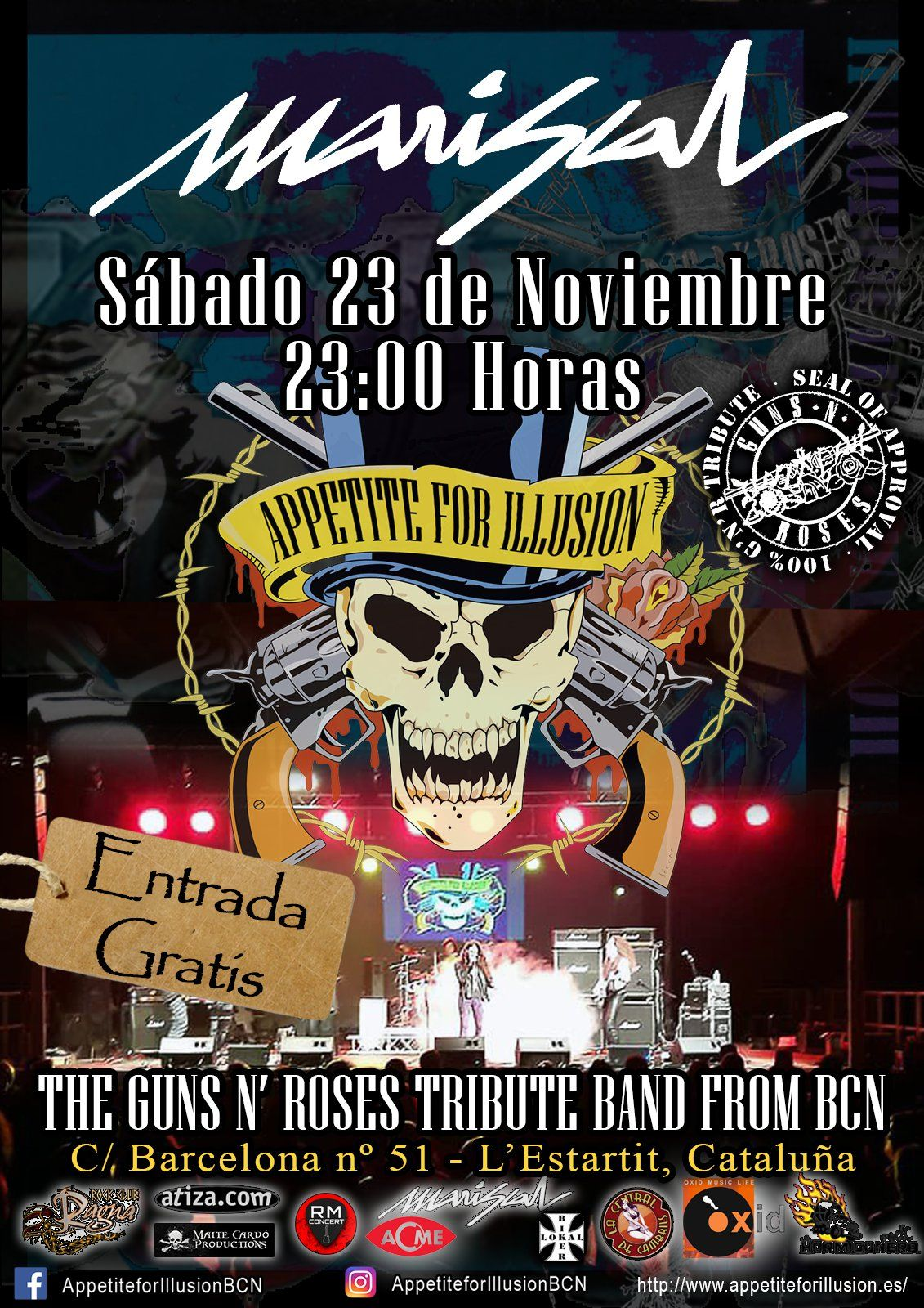 Concert de Appetite for Illusion - The Guns n' Roses Tribute...  - Appetite for Illusion en L'Estartit (Sala Mariscal)