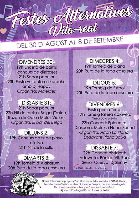 Concert de Epicentre, Maluks, Nonai Sound  - Festes Alternatives de Vila-Real