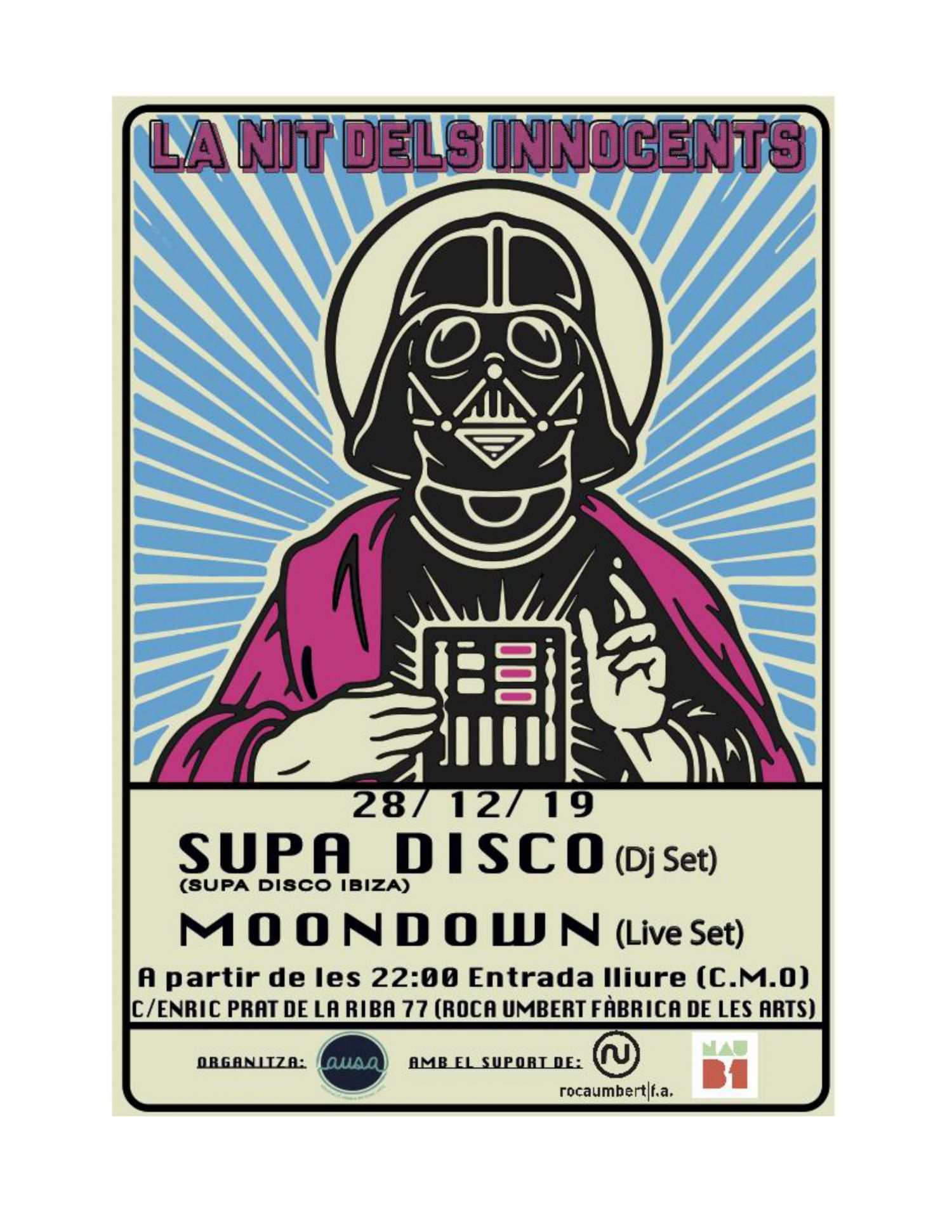 Concert de Dj Pum + Parker, Moondown, Supa Disco  - Nit dels innocents