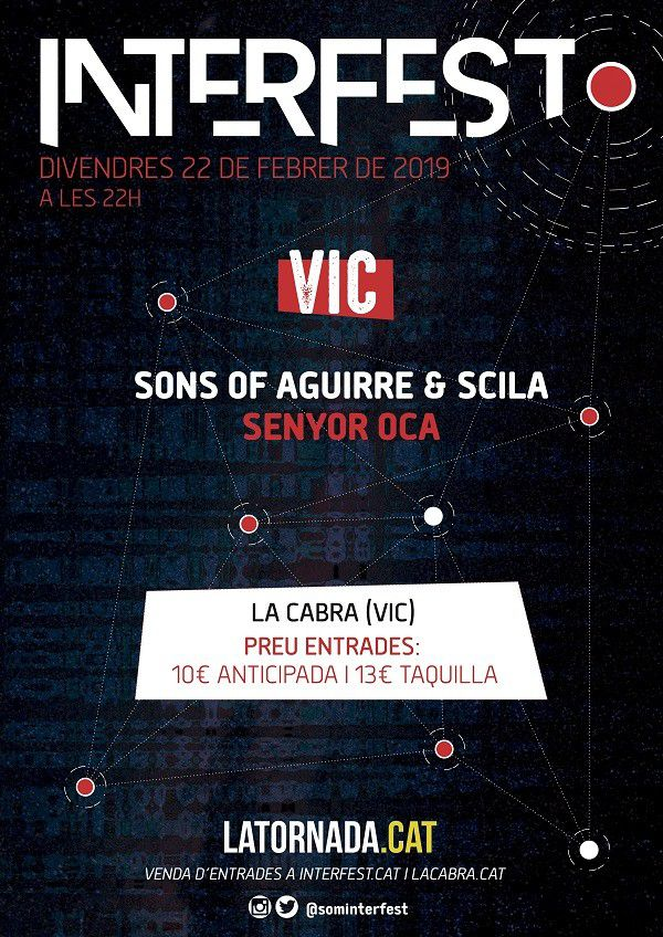 Concert de Sons of Aguirre & scila, Senyor Oca  - Interfest