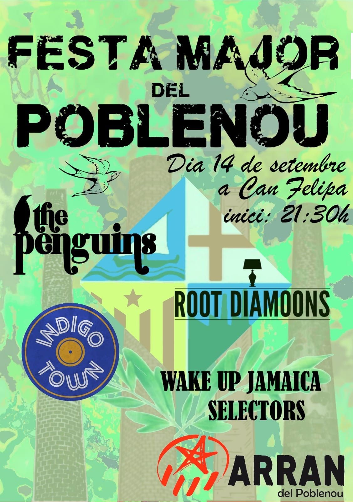 Concert de The Penguins, Root Diamoons, Indigo Town, Wake Up...  - Festa Major de Poble Nou